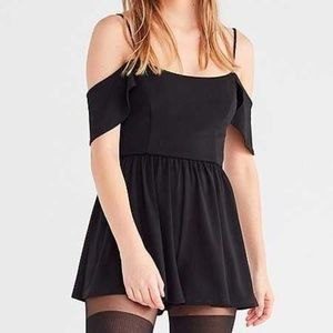 Urban Outfitters Crepe Cold Shoulder Romper